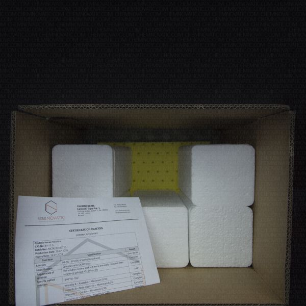Collective packaging for 6 liters of pure nicotine liquid