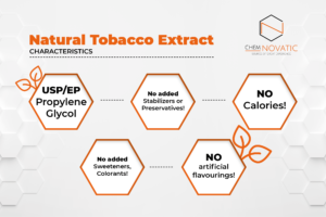 natural tobacco extract e-liquid flavouring characteristics