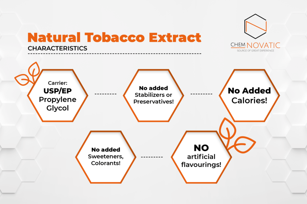 natural tobacco extract e-liquid flavoring