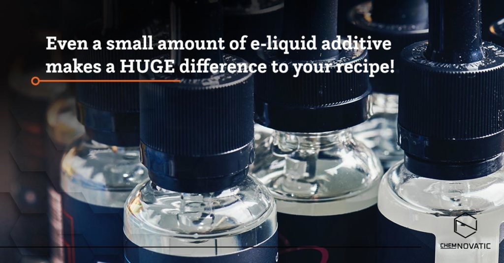 Chemnovatic e-liquid additives