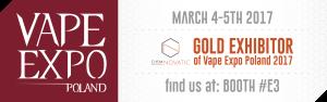 chemnovatic gold exhibitor at vape expo poland 2017
