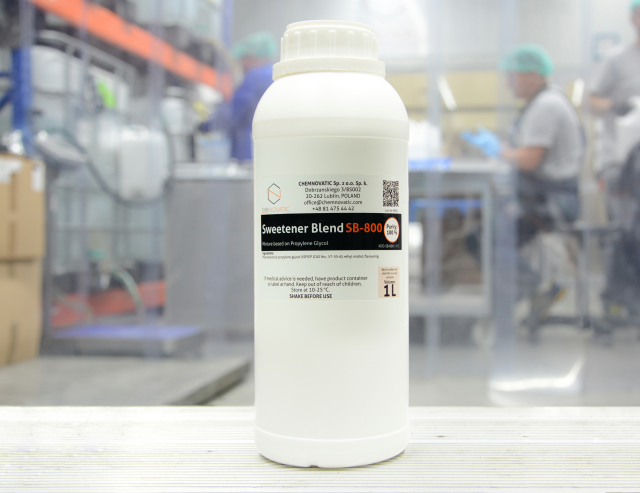 sweetener blend sb-800 in the manufacturing plant