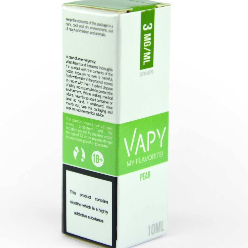 Vapy e-liquids individual box